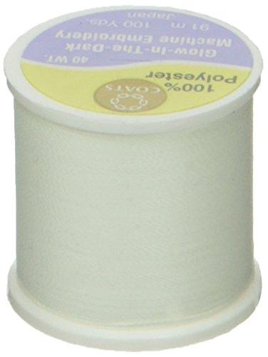 Coats Polyester H/änden Maschine Stickgarn 100yd-white