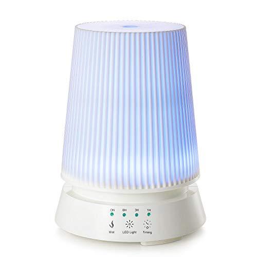 Linkind 350ml Ultraschall Öle Luftbefeuchter, 4-Timer Einstellungen Diffuser, 7 Farben LED-Lichter, Ultra Leise Raumluftbefeuchter