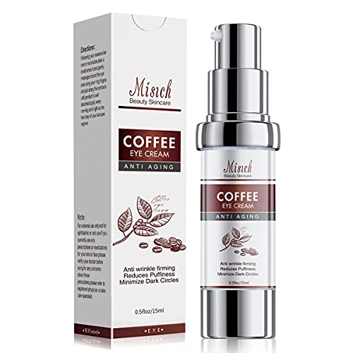 Caffeine Eye Cream, Under Eye Cream for Dark Circles and Puffiness, Anti Wrinkle Cream Moisturizer for Wrinkles Reduces Wrinkles, Under-Eye Bags, Dark Circles, Eye Lift Treatment