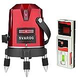 SVAROG 3ライン レーザー墨出し器 EP-3R レーザーレベル 自動補正 垂直 水平ライン クロスラインレーザー 360°回転レーザー レーザー測定器 墨出し レーザー墨 墨出し器 レーザー水平器 墨だし器 1年間保証 光出力1mW以下 レーザー安全基準クラス2