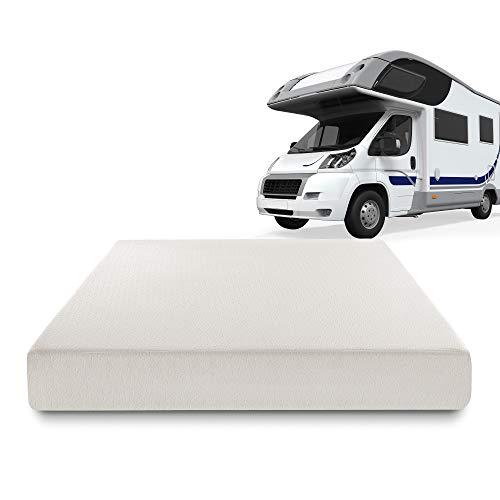 Zinus Deluxe Memory Foam 8 Inch RV / Camper / Trailer / Truck Mattress, Short Queen