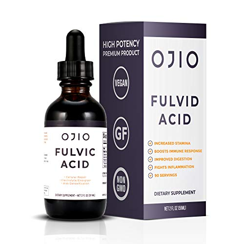 OJIO Fulvic Acid Trace Mineral Complex | Cellular Repair | Increases Energy | Boost Immune System | Relieves Pain & Helps Digestion - 2 fl oz