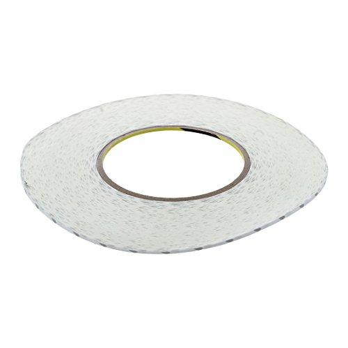Gaoominy 50 M Cinta blanca de doble cara Banda adhesiva Pegajosa Para Pantalla LCD de telefono movil