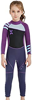Kids 2.5mm Wetsuit Long Sleeve One Piece UV Protection Thermal Swimsuit