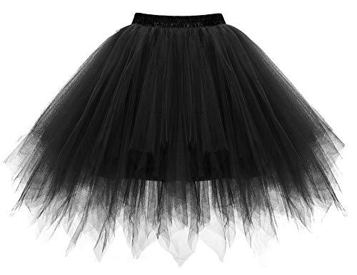 Bbonlinedress Kurz Retro Petticoat Rock Ballett Blase 50er Tutu Unterrock Black S - 2