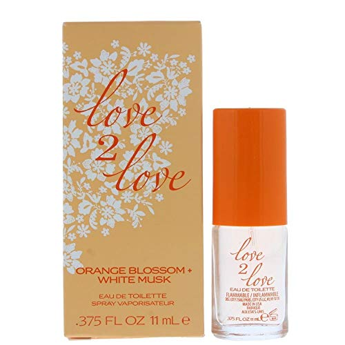 Love2Love Orange Blossom + White Musk Eau de Toilette 11ml Spray