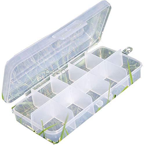 Lineaeffe Boîte Poly 8 13 x 6.5 x 2.5 cm Boîte de Pêche Rangement Accessoire Leurre Hameçon Compartiment Plastique