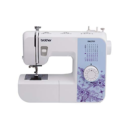 SYS Score 8.7. Brother Sewing Machine, XM2701, Lightweight Sewing Machine with 27 Stitches, 1-Step Auto-Size Buttonholer, 6 Sewing Feet, Free Arm and Instructional DVD