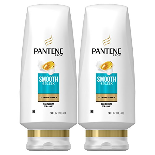 Pantene, Sulfate Free Conditioner, with Argan Oil, Pro-V Smooth and Sleek Frizz Control, 24 fl oz,...