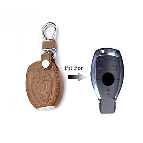 RFGOO de Cuero para Coche, Llave remota, Carcasa para Llave, Accesorios de Cala, para Mercedes Benz Clase W205 E Clase W212 ABS GLC GLA GLK