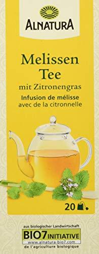 Alnatura Bio Melissentee mit Zitronengras, 20 Beutel, 6er Pack (6 x 30 g)