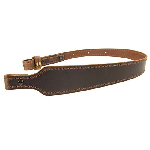 BF70022_Buffalo Leather Cobra Rifle Gun Sling_Crazy Horse/Brown_Amish Handmade