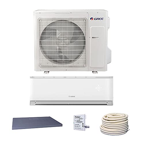 GREE 30,000 BTU 18 SEER LIVO Gen 3 Wall Mount Ductless Mini Split Air Conditioner Heat Pump 208/230V - Comfort Value Kit