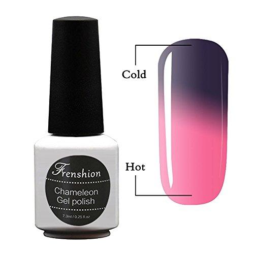 Frenshion 7.3ML Esmaltes Semi Permanente para Uñas Camaleón Gel Polish Soak Off UV LED Nail Art Color Temperatura Cambió 51