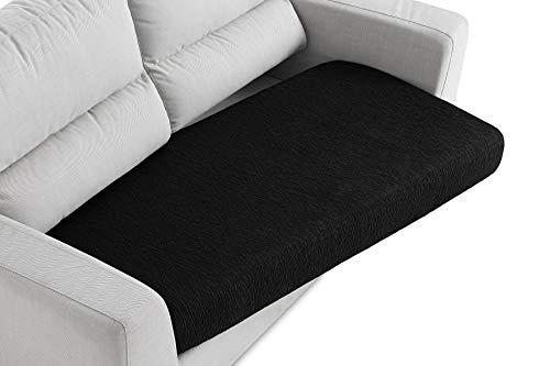 Textilhome - Funda de Cojín del Asiento para Sofá - Desde 130 a 200 cm. Color Negro (2-3 plazas)