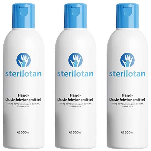 Sterilotan - Desinfektionsmittel Hand   Sterilium Händedesinfektion Mittel - Desinfektion Hände   Handdesinfektion unterwegs & zuhause (3 Flaschen)