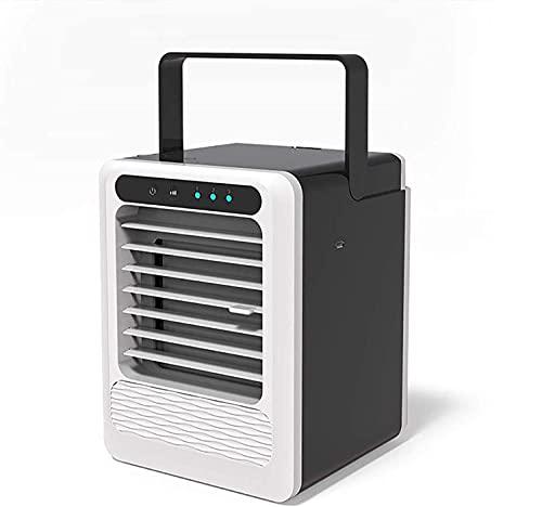 XPfj Air Cooler Negro Tres en un Mini Aire Acondicionado, Aire Acondicionado, Aire Acondicionado, Aire Acondicionado, Ventilador, Humidificador, Desktop Dehumidifier