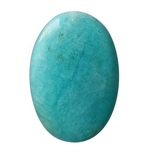 Cabujón ovalado de Amazonita natural, tamaño 23 x 16 x 5 mm, colgante de piedra, hecho a mano, fabricación de joyas, azul aguamarina Amazonita, 25101