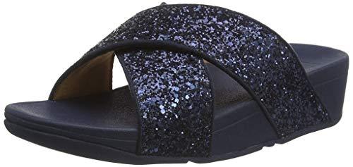 Fitflop Women's lulu Glitter Slides Sandalen, Blau (Midnight Navy 399), 41 EU