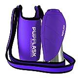 Dog Water Bottle Holder and PupFlask Portable Water Bottle - 27oz, Violet
