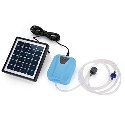 AYNEFY Aquarium Luftpumpe,Aquarium Wasserpumpen Solarbetriebene wasserdichte USB Oxygenator Bel¨¹fter Luftpumpe Sauerstoff f¨¹r Pool im Freien Teich (10 x 8 x 3,5 cm)