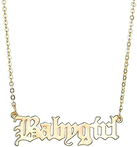 ZHIFUBA Co.,Ltd Necklace Accessories Letter Necklace Lock Bone Chain Gift Girls Boys Necklace