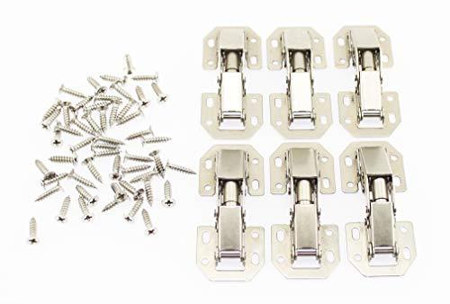 Olive-G スライド丁番 鋼製丁番 蝶番 6個セット 補修 固定に ネジ付