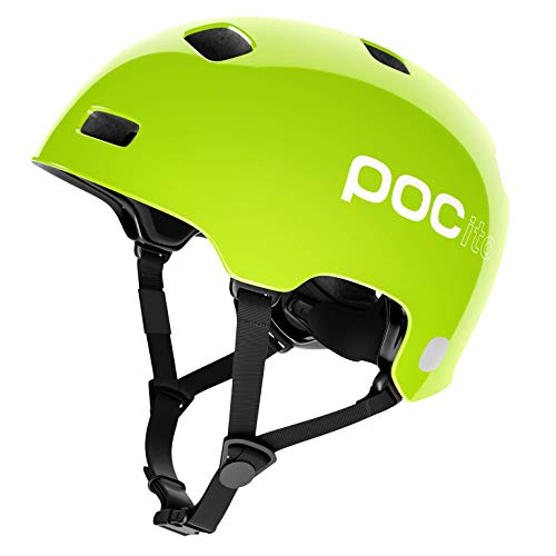POC Sports Unisex-Youth POCito Crane Cycling Helmet, Fluorescent Yellow/Green, XS-S