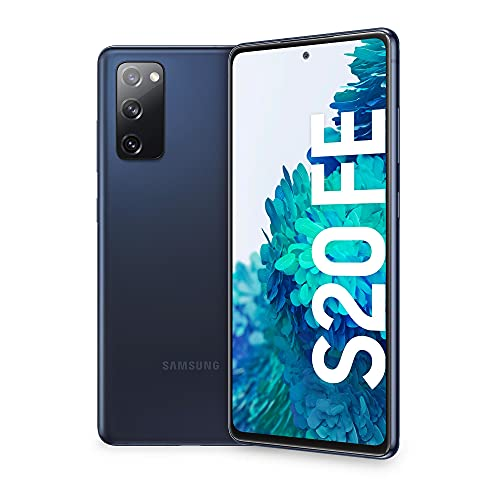 "Samsung Smartphone Galaxy S20 FE, Display 6.5"" Super AMOLED, 3 Fotocamere Posteriori, 128 GB Espandibili, RAM 6GB, Batteria 4.500mAh, Hybrid SIM, 2021, Snapdragon 865, Cloud Navy [Versione Italiana]"