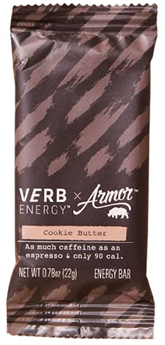 Verb Caffeinated Energy Bar, Cookie Butter, 90 Calories, 12 Count