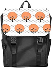 Fashion Flip Cover Notebook Small Tomato Fruit and Vegetable Cool Print Laptop Backpack Travel Men Women Business Computer Backpack Oxford Fabric Vintage School Shoulder Bag