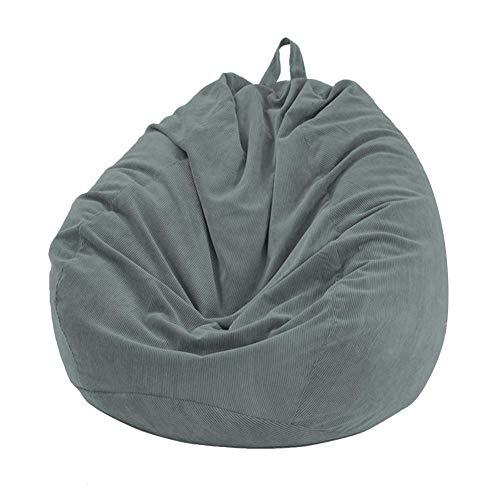 Sitzsack-Bezug, weich, abnehmbar, waschbar dunkelgrau