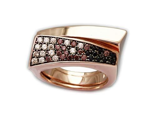 MARINA GARCIA Anello NY COÑAC in argento sterling con bagno in oro rosa (taglia 14)