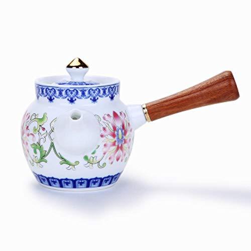 SXCYU Teteras de Porcelana Azul y Blanca pintadas a Mano Tetera de Kung Fu en Relieve Juego de té de cerámica China Hervidor de Tetera Vintage, B