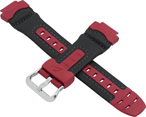 Cinturino originale Casio per orologio AW-591RL AW 591RL 591 nero rosso 10275267