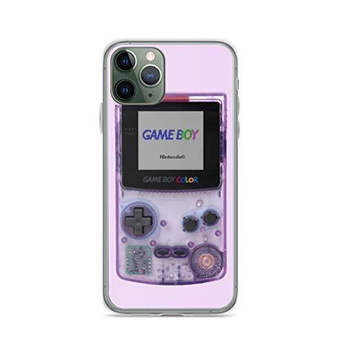 Cajas del Teléfono Gameboy Color Translucent Purple Cover iPhone 12/11 Pro MAX 12 Mini SE X/XS MAX XR 8 7 6 6s Plus Funda