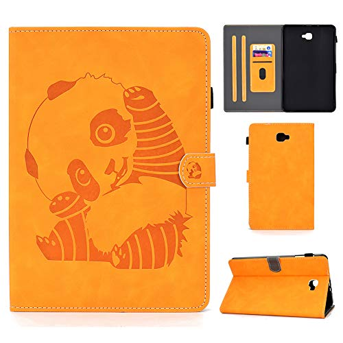 KM-WEN - Funda para tablet Samsung Galaxy Tab A SM-T290/T295 (8 pulgadas), diseño de panda en relieve, cierre magnético, piel sintética gris Samsung Galaxy Tab A SM-T580