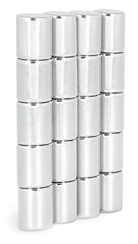 20 Super Starke Neodym Zylinder-Magnete (Ø8x10mm) - Ideal für Whiteboards und Glasmagnettafeln - By NeoMag (20)