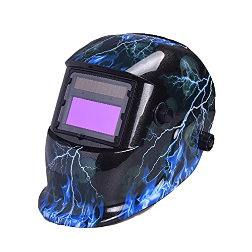 Casco para Soldar, Casco Solar Oscurecimiento Automaticamente con ProteccióN UV, Careta Soldar Automatica para MIG/MAG/TIG/Soldadura Por Arco/Corte Por Plasma