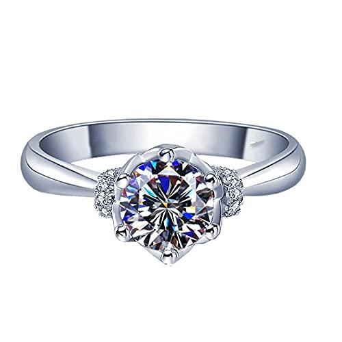Anillo abierto circón Mossan ajustable anillo chica dedo accesorios