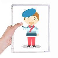 海の青のフランスの漫画 硬質プラスチックルーズリーフノートノート