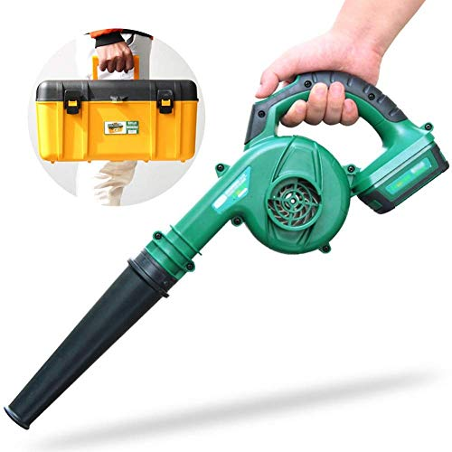 Electric Leaf Blower - 3 in 1 Garden Blower and Vacuum - Vacuum Shredder Lightweight, 2-Speed Speed Regulation (Color : Single battery Toolbox) 1yess (Color : Single Battery Toolbox)