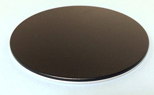 Replacement Black and White Stage Plate for Stereo Microscope, 120mm Diameter