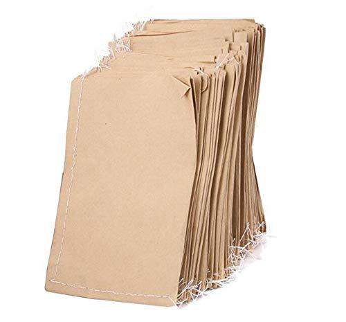 Environ 100 pcs cousu Sac en papier Kraft pour la nourriture de graines de étui de rangement