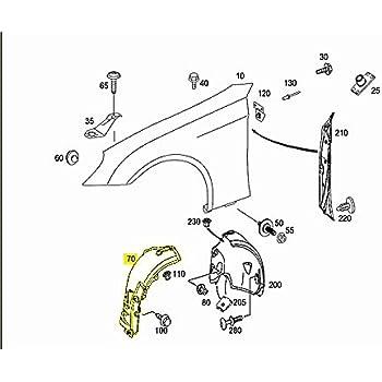 Porsche 986 996 Boxster Fender Liner LEFT Front Fore OEM wheel well splash guard