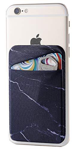 2Pack Marble Adhesive Phone Pocket,…