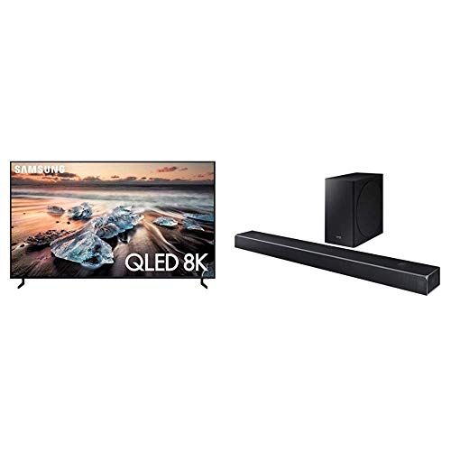 "Samsung QN65Q900RBFXZA Flat 65"" QLED 8K Q900 Series Smart TV (2019) With HW-Q80R Samsung Dolby Atmos Q80R Series Soundbar"