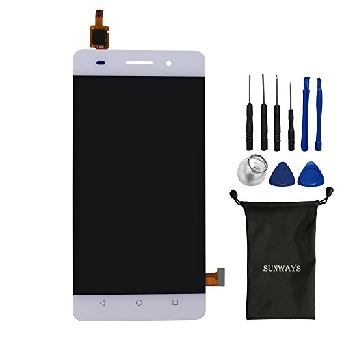 Sunways Touch Digitizer Display Screen Glass Replacement for Huawei Honor 4C/G Play Mini(White)