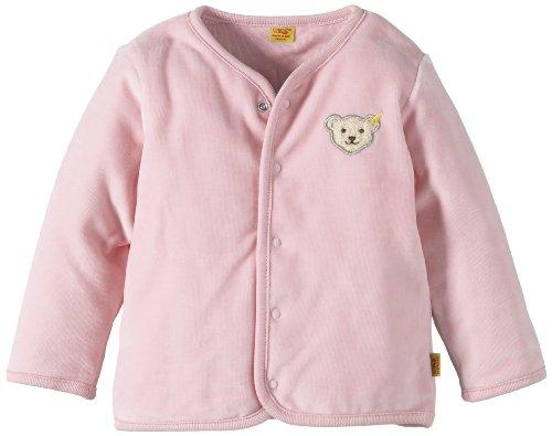 Steiff Unisex - Baby Strickjacke 0002887 Babyjäckchen 1/1 Arm, Einfarbig, Gr. 74, Rosa (Barely Pink)