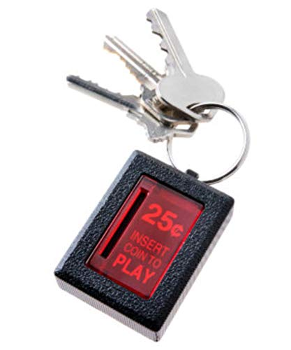 Insert Coin Keychain- Illuminated Arcade-Accurate Replica Coin Return Made from die-cast Metal.